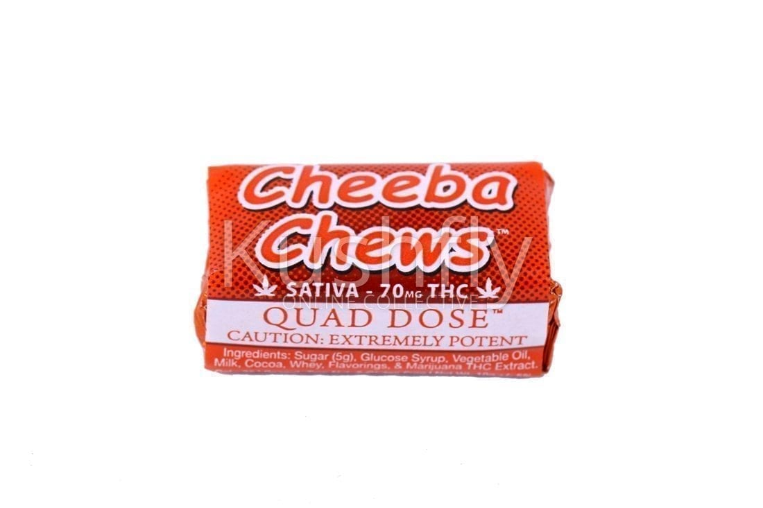Cheeba Chews Quad Dose Sativa 70mg