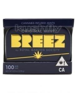 Breez Mints Original Marijuana Edible Front Los Angeles Delivery