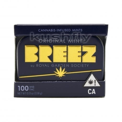 Breez Mints Original Marijuana Edible Front Los Angeles Delivery