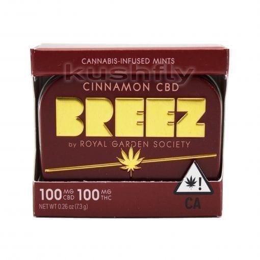 Breez CBD/THC 1:1 Cinnamon Mint Tablets Delivery Los Angeles