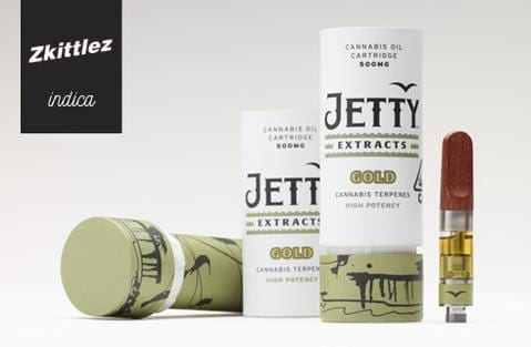 Jetty Zkittles Gold Oil Cartridge Delivery