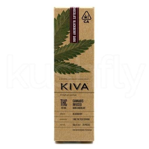 Kiva Blackberry Dark Chocolate Bar Edibles Delivery
