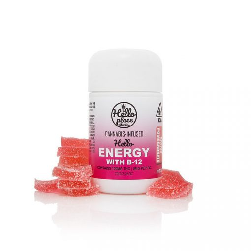 Hello Energy Cannabis Infused Gummy With B-12