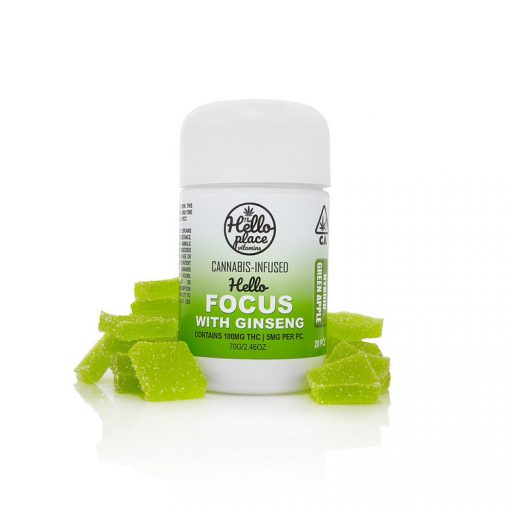 Hello Focus Cannabis Infused Gummy With Ginseng