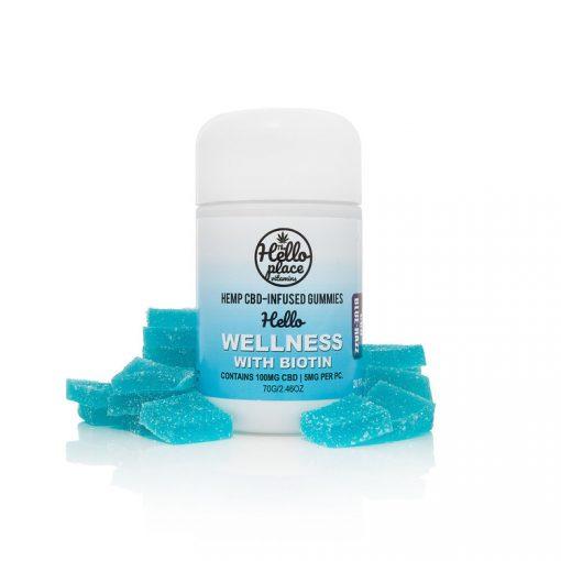 Hello Wellness CBD Infused Gummy With Biotin