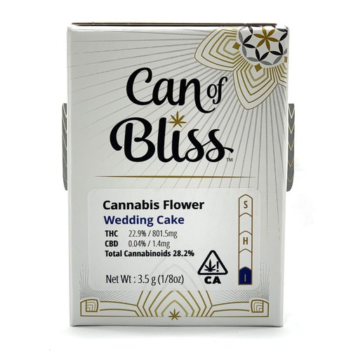 Can Of Bliss Wedding Cake Marijuana Delivery