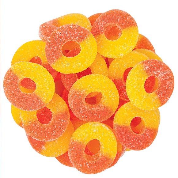 Kushbee Gummies Peach Rings