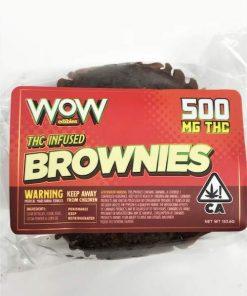 Wow Edibles Cannabis Brownie 500mg THC