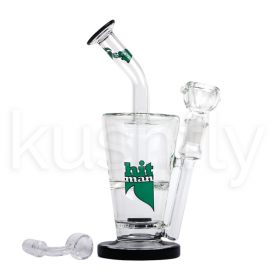 "Hitman Glass 14"" Doulle Layer Waterpipe-(w/-Torch-&-Dab-Tool)"