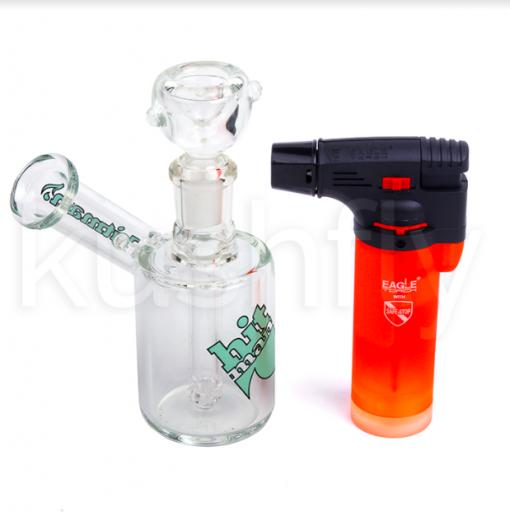 Hitman Glass Mini Bubbler Waterpipe Special Edition