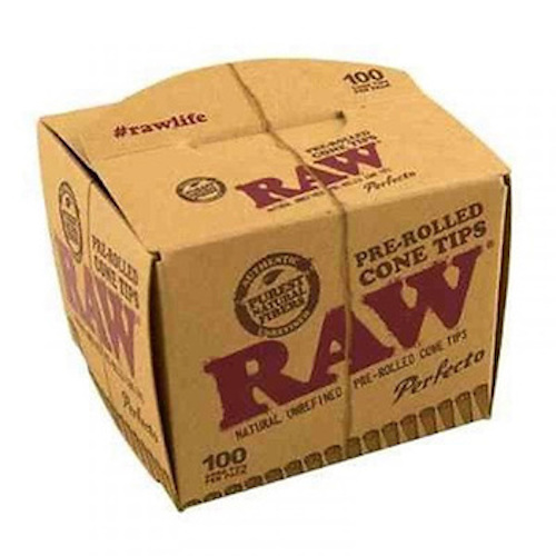 Raw Pre-Rolled Cone Tips 100 Pack