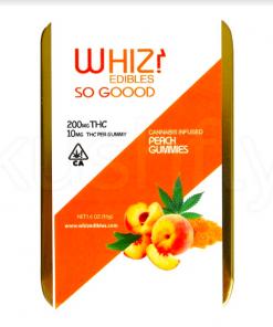 Order online Whiz Edibles Peach Gummies 100mg THC