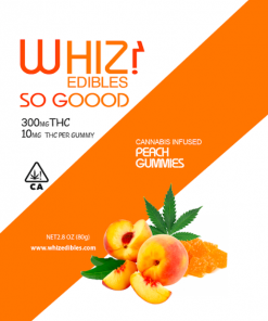 Order online Whiz Edibles Peach Gummies 300mg THC