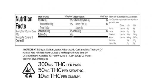 Order online Whiz Edibles Peach Gummies 300mg THC