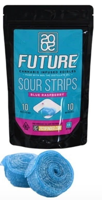 2020 Sour Blue Raspberry Strips 500mg THC