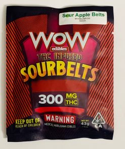 Wow Edibles Sour Apple Belts