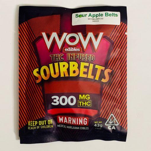Wow Edibles Sour Apple Belts