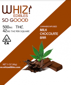 Whiz Edibles Milk Chocolate Bar 500mg THC