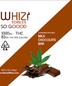 Whiz Edibles Milk Chocolate Bar 1000mg THC