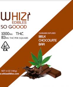 Whiz Edibles Milk Chocolate Bar 1000mg THC
