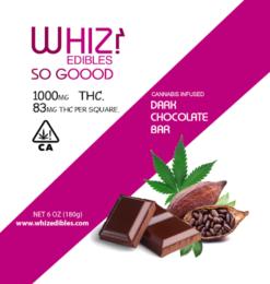 Whiz Edibles Dark Chocolate Bar 1000mg THC