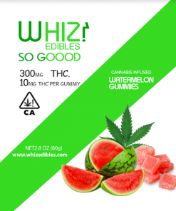 Order online Whiz Edibles Watermelon Gummies 300mg THC