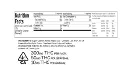 Order online Whiz Edibles Strawberry Gummies 300mg THC