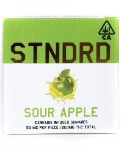STNDRD Indica Gummies Sour Apple 200mg