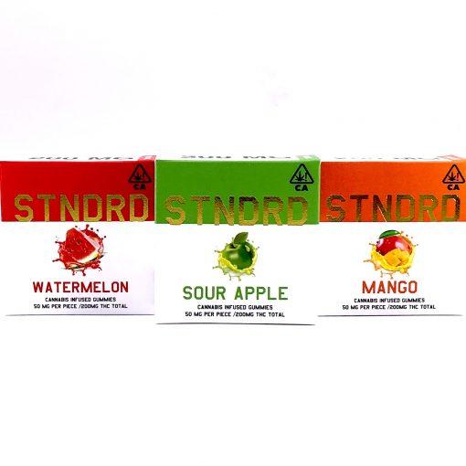 STNDRD Sativa Gummies White Peach 200mg