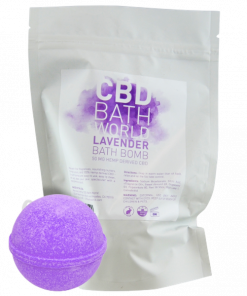 CBD Bath World Lavender Bath Bomb