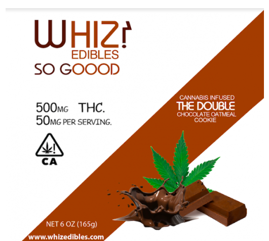 You'll Love Whiz Edibles Double Chocolate Oatmeal Cookie