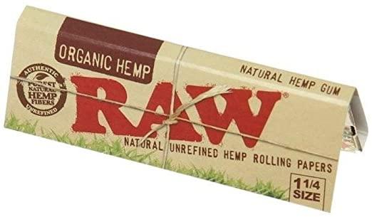 Raw Organic Hemp 1-1/4 Rolling Papers 50 pack