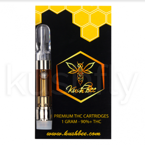Order Online Kushbee Clear Oil THC Vape Cartridge Strawberry Banana |  Kushfly