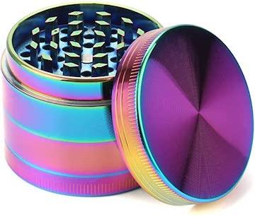 Rainbow Iridescent 4 Piece Grinder 1.6″