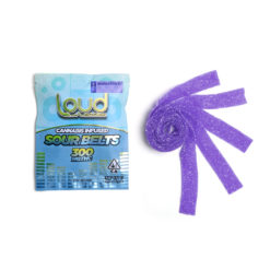 Loud Edibles Belts Blueberry Indica