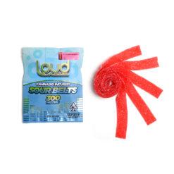 Loud Edibles Belts Strawberry Sativa