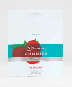 Social CBD Red Raspberry Gummies 125mg