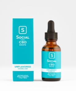 Social CBD Drops Unflavored 2000mg