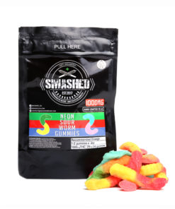 Smashed Neon Sour Worms 1000mg