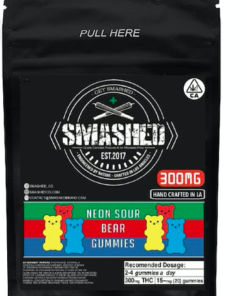 Smashed Neon Sour Bear Gummies 1000mg