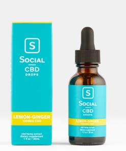 Social CBD Drops Lemon-Ginger