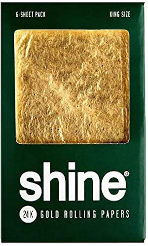 Shine 24k Gold Rolling Papers 6 sheets