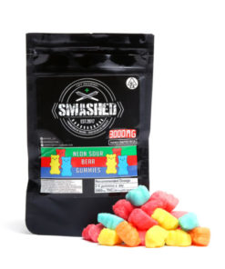 Smashed Neon Sour Bear Gummies 5000mg