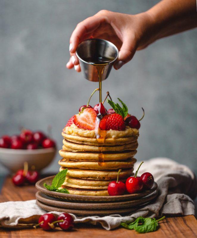 Cannabis-Infused Dark Chocolate Pancakes
